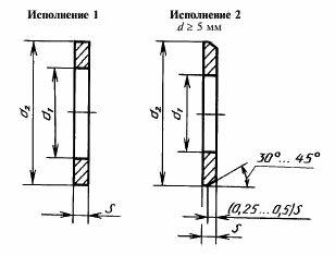 Шайба плоская DIN 125(ГОСТ 11371-78) схема