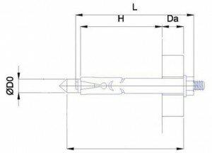 Болт анкерный с шестигранной гайкой  схема