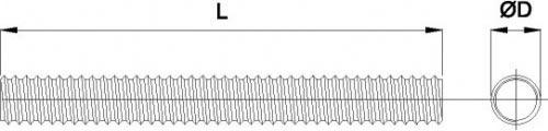 Стержень резьбовой DIN 975 схема